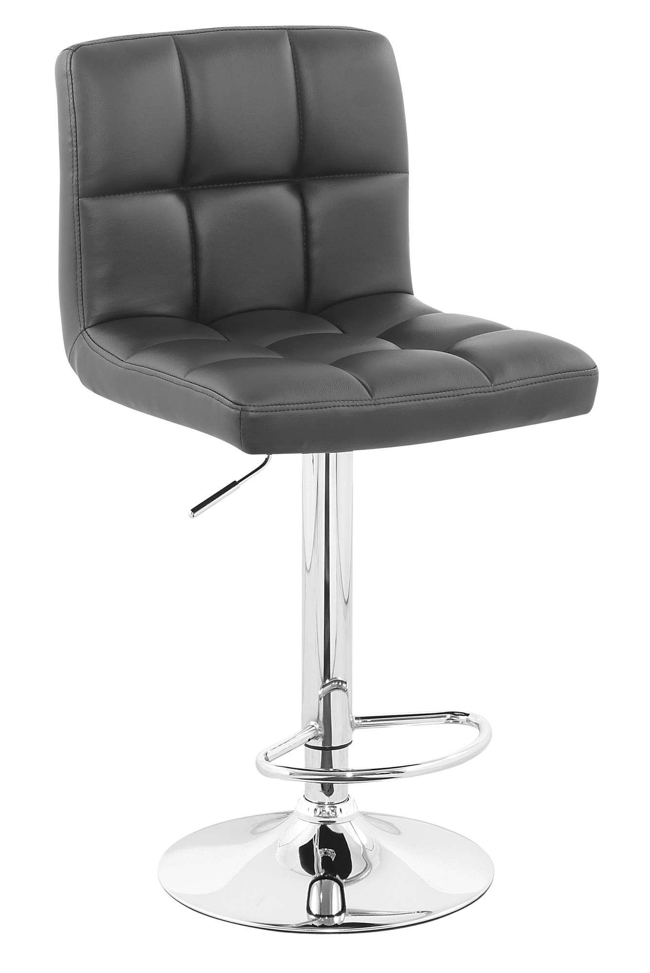 Set 2 sillas banco para cocina barra ajustable cromado vv4 demarkazone - Sillas de barra de cocina ...