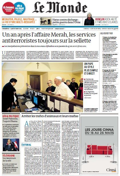 Le Monde du dimanche 17 Lundi 18 Mars 2013