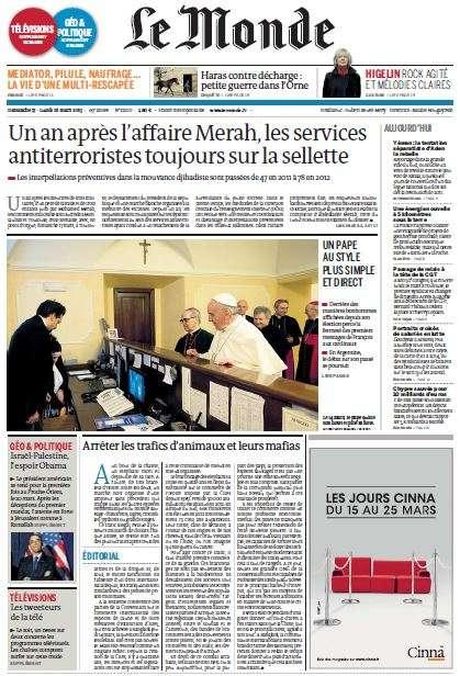 Le Monde du dimanche 17 Lundi 18 Mars 2013