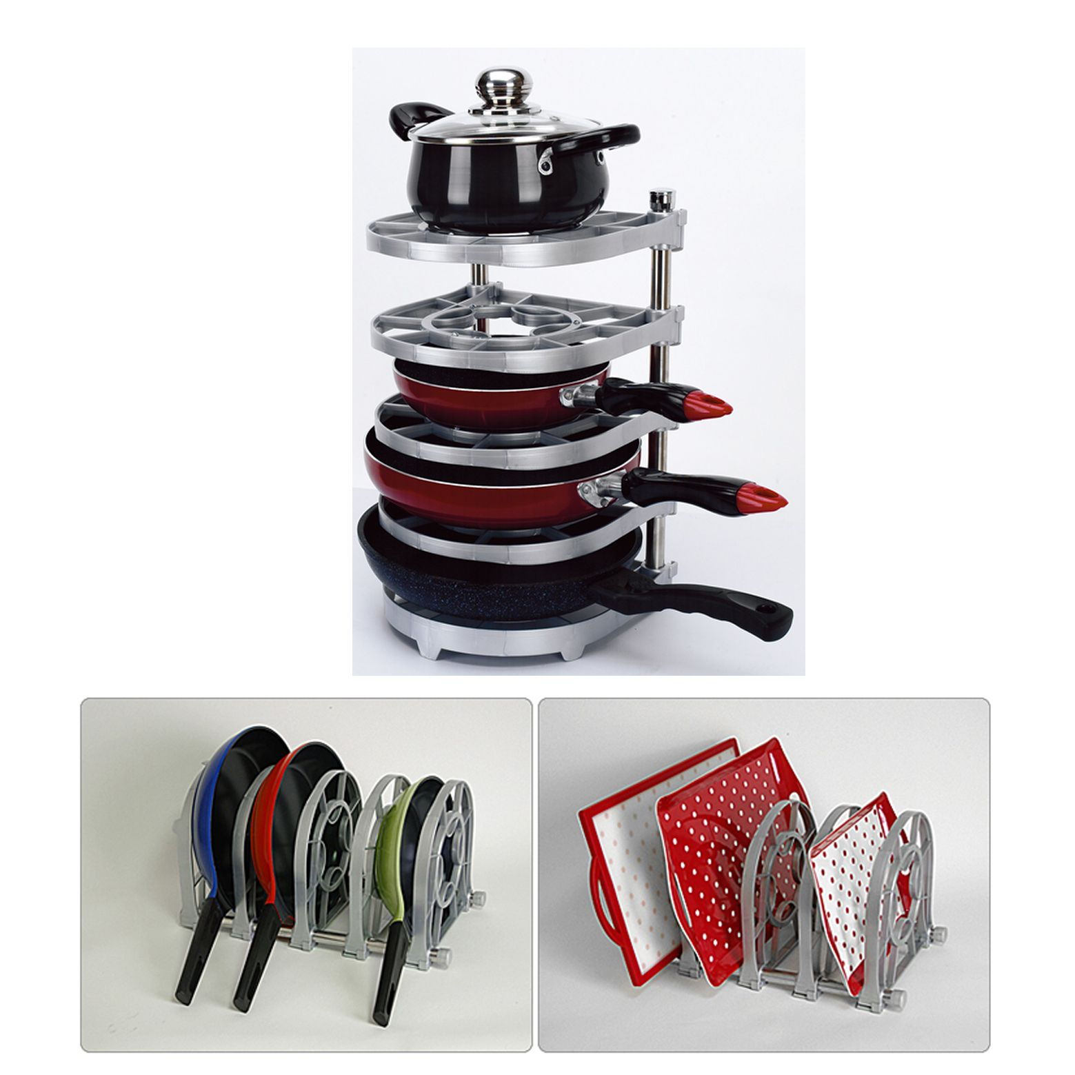 New Pan And Pot Organizer Rack Multi Uses Kitchen Rack
