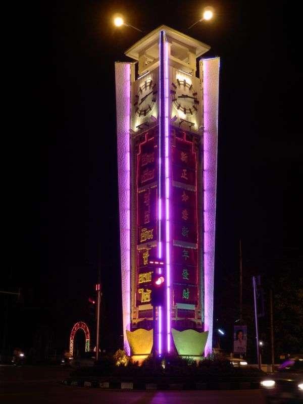 der Uhrturm bei Nacht