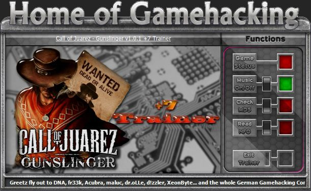 Call of Juarez: Gunslinger Steam 1.0.1 +7 Trainer [HoG]
