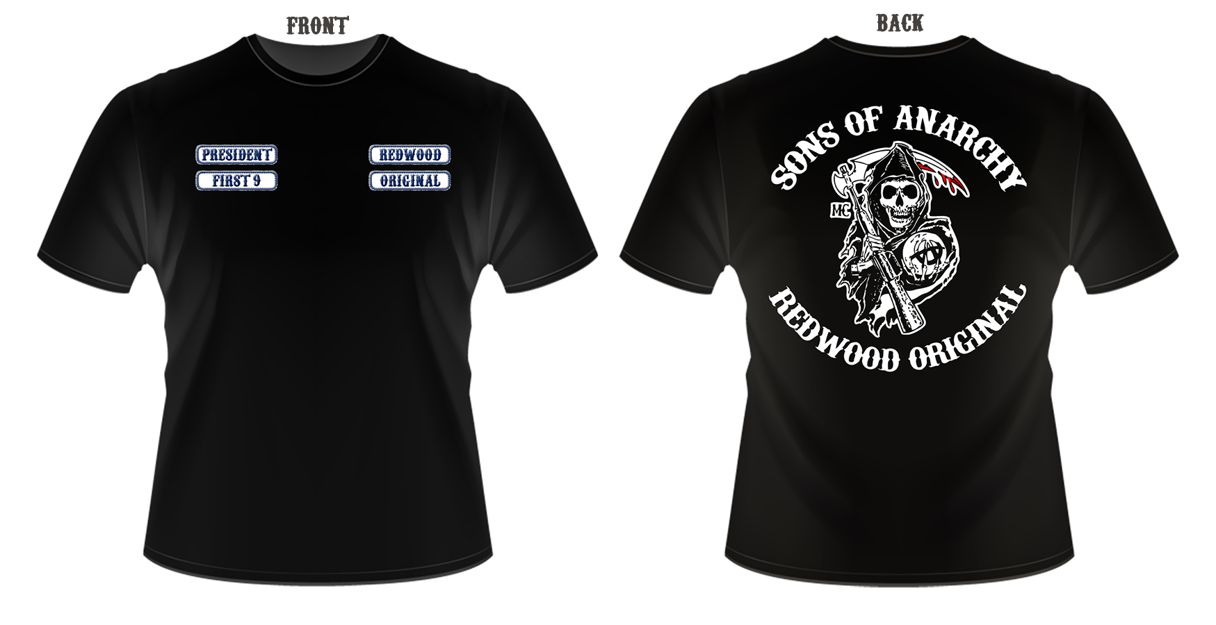 sons of anarchy t shirt design. Black Bedroom Furniture Sets. Home Design Ideas